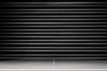 Black sheet metal texture background with table Stock fotó