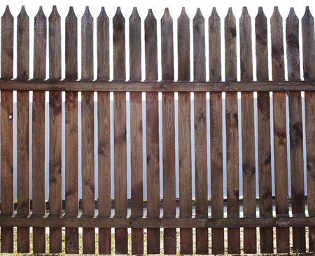 picket fence in the background