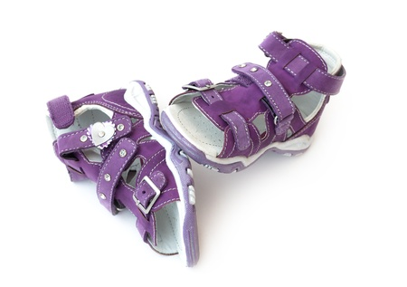 A pair of new sandals for girls photo