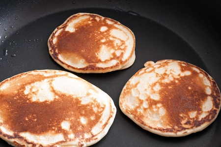 Pancakes cooked on a skillet Stock Photo - 13524872