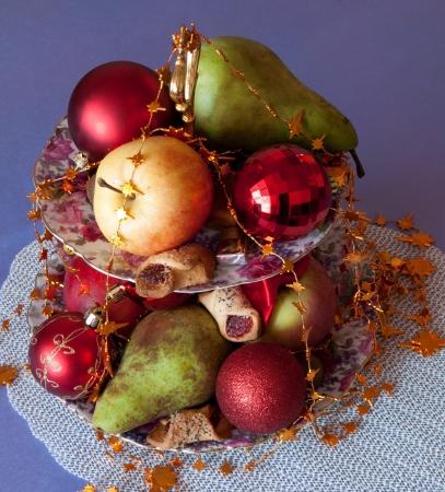 Christmas table setting.  photo