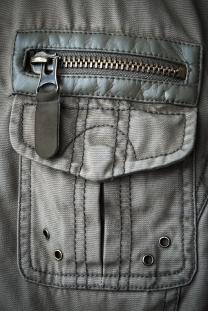 Closed with a zipper pocket on the jacket youth
