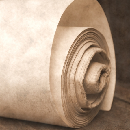 roll old paper Stock Photo