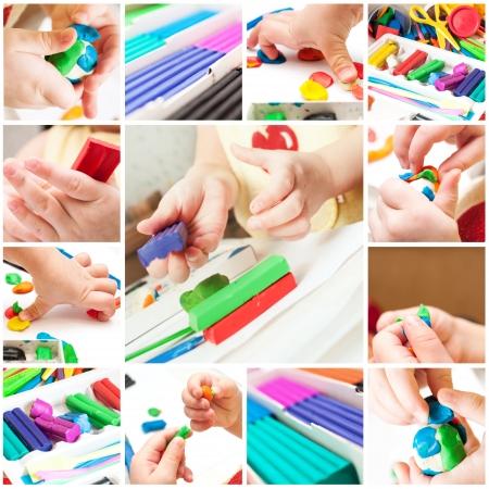 Children mold plasticine Standard-Bild