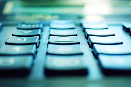 Rechner Nahaufnahme erschossen Fokus auf Prozent Standard-Bild