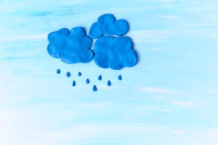雨の雲。粘土から作られました。 写真素材