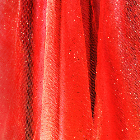 vermeil: Background from red delicate fabric with sequin