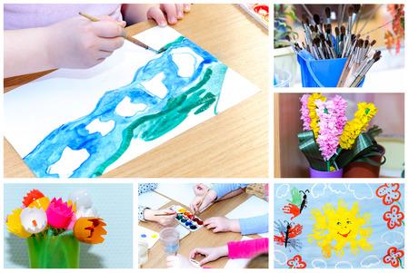 Children's creativity, children's crafts hand made