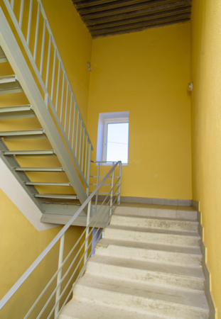 staircase - emergency exit in hotel, close-up staircase, interior staircases, interior staircases hotel, Staircase in modern house, staircase in modern building Stock fotó