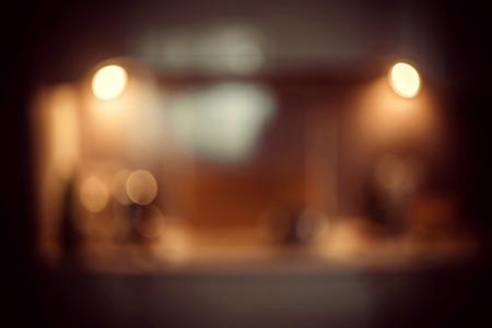 blurred kitchen background. Blur image of modern Kitchen Room interior. Kitchen Room. with Retro Instagram Style Filter