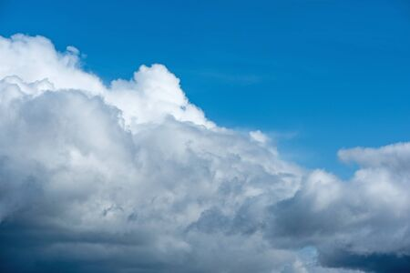 Big Cloud on blue sky. Beautiful skyscape photo Stock Photo