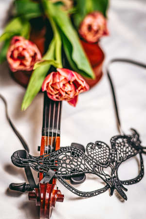 Musical instrument and masquerade carnival mask