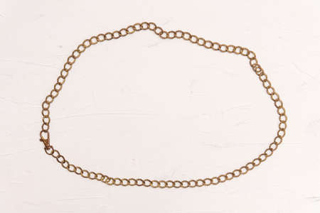 Beautiful golden luxury chain with closed clasp