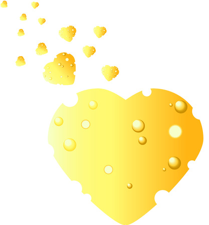cheez: Cheese in the shape of heart Card Valentine