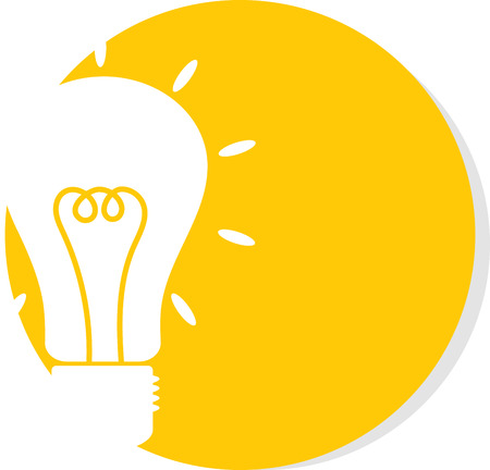 Illustration Of Lamp On A Round Orange Background Image Bright Idea Icon