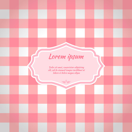 picnic tablecloth: Pink checkered picnic tablecloth. Seamless pattern. Vector illustration
