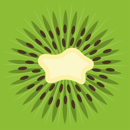 Vector background with fresh green kiwi fruit.