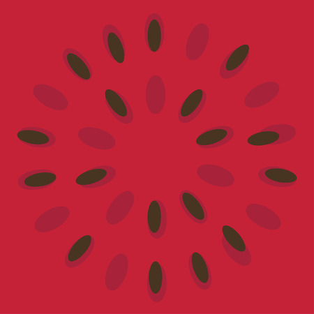 Vector background with fresh ripe watermelon. Иллюстрация