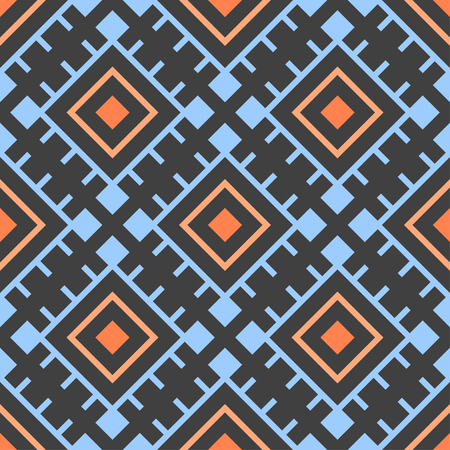 Vector seamless pattern with tribal elements. Tribal collection. Geometric objects. Vector background with tribal ethnic decor elements