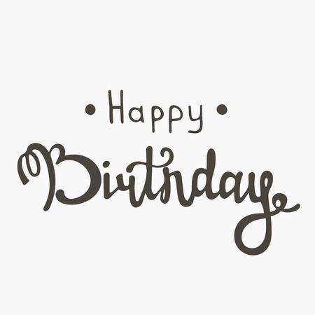 Happy birthday inscription. Иллюстрация
