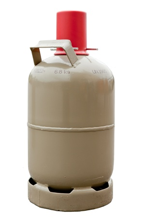 gas cylinder: Camping gas cylinder Stock Photo