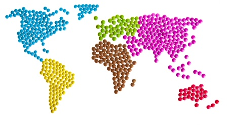 Worldmap of candy