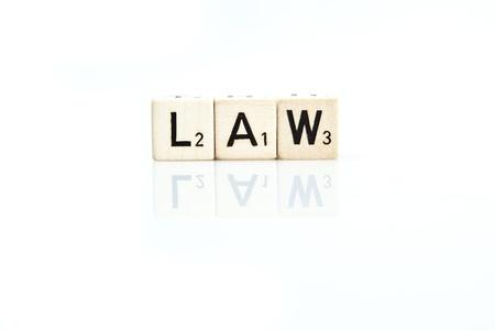 Dice - LAW Stockfoto