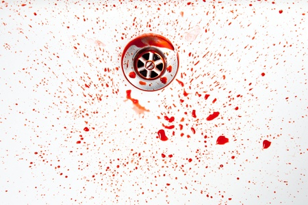clean blood: Blood in the sink