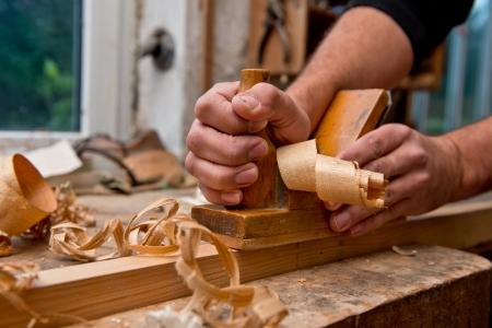 carpintero: Plano Foto de archivo