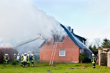 total loss: Firefighters at house fire