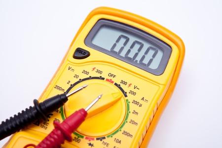 test probe: Primo piano multimetro digitale