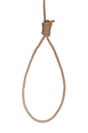 Hangmans noose isolated on white