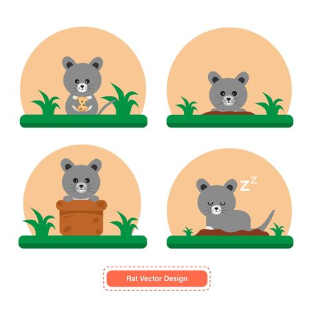 Rat or Mouse Vector for icon templates or presentation background. Mouse icon for pet shop icon. Able to use for website or mobile apps icon Иллюстрация