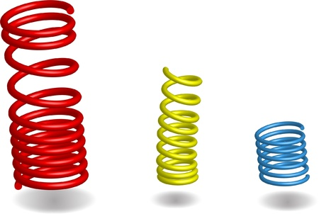 metal spring: Three Vector Springs