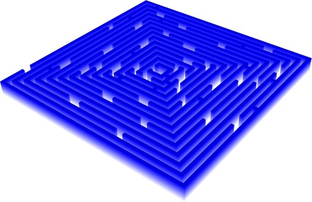 3D Vector Maze 일러스트