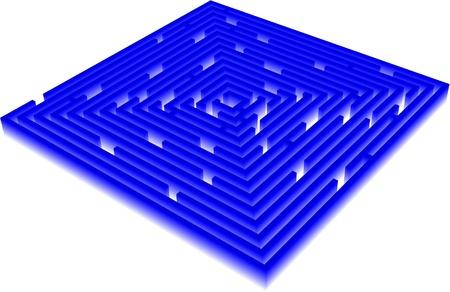 3D Vector Maze Illustration