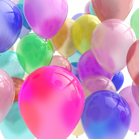 This lovely 3D rendered image of balloons could have many uses