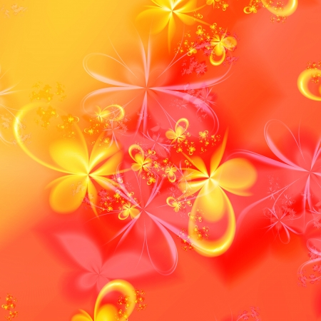 3D rendered abstract of fractal floral patterns