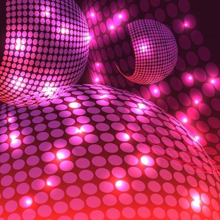 An abstract rendering of a disco night with shades of purple.