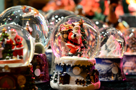 Snow-ball Toy Glass Ball Santa Claus