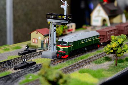 Train model on the railway