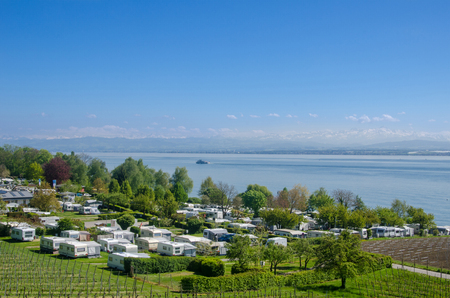 Trailer park in Lake Constance