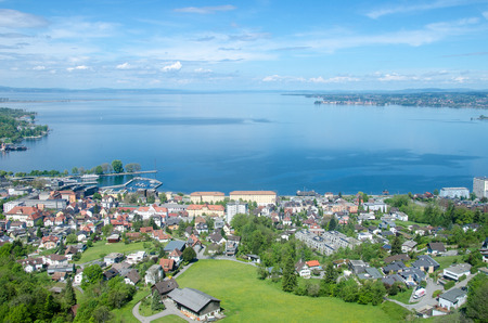 Bodensee from the nearby mountain 스톡 콘텐츠