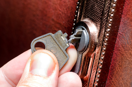 The broken key in the lock