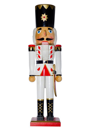 Nutcracker on white background Stock Photo