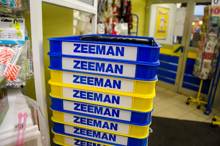 Soest, Germany - December 19, 2017: Shopping cart in Zeeman store. Zeeman is a European chain store with about 1,000 establishments in the Netherlands, Germany, Belgium, France, and Luxembourg. Redakční