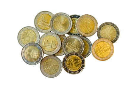 Commemorative 2 euro coins.