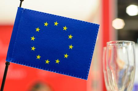 The European Flag or Flag of Europe Reklamní fotografie - 114847546