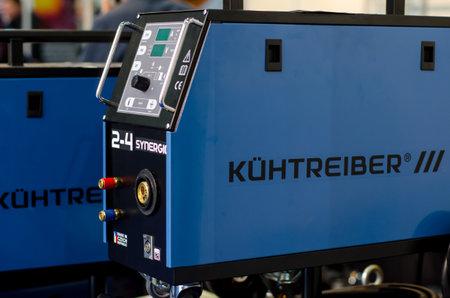 Kyiv, Ukraine - November 22, 2018: KÃœHTREIBER welding machines.