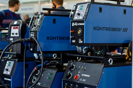 Kyiv, Ukraine - November 22, 2018: KÃœHTREIBER welding machines.